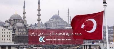 منحة مالية للطلبة الأجانب في تركيا